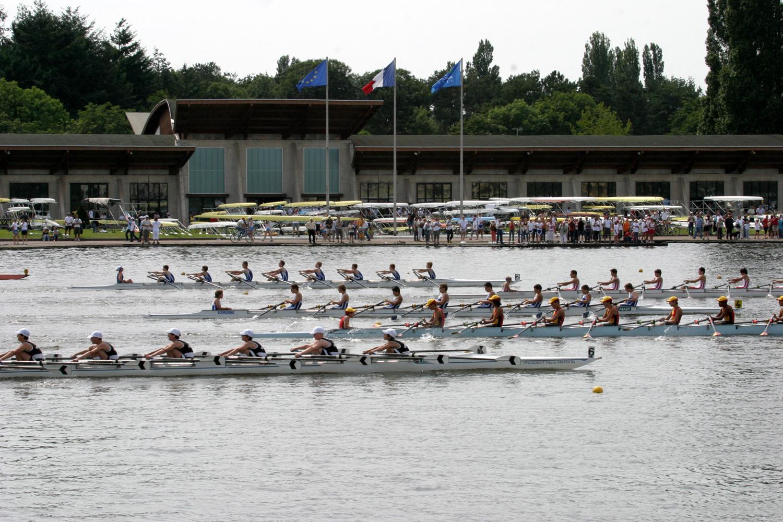 Aviron sur le lac d'Allier