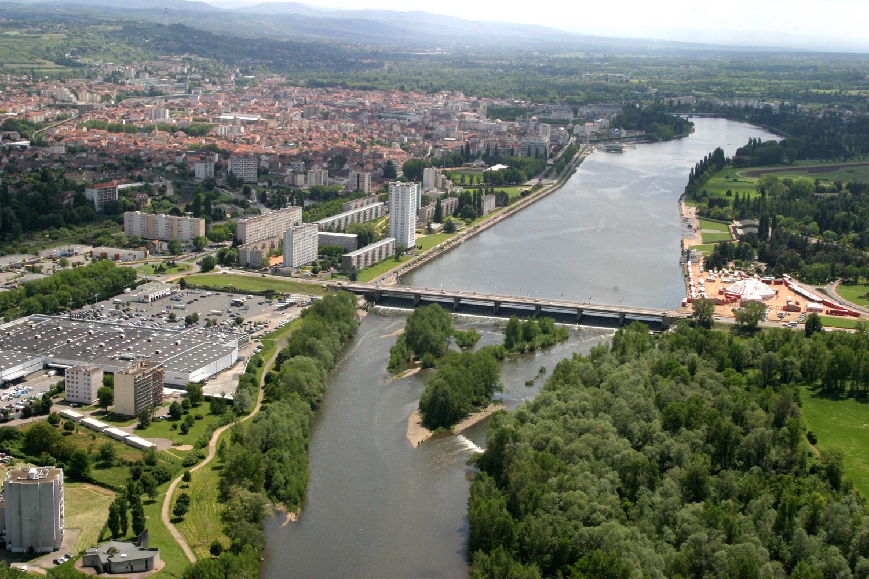 Le pont de l'Europe et le carrefour Schuman
