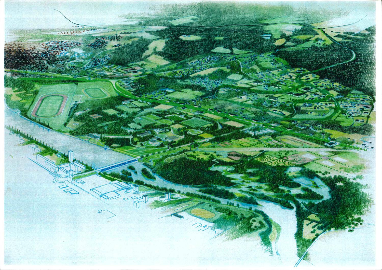 Le projet de parc naturel urbain et le parc omnisports