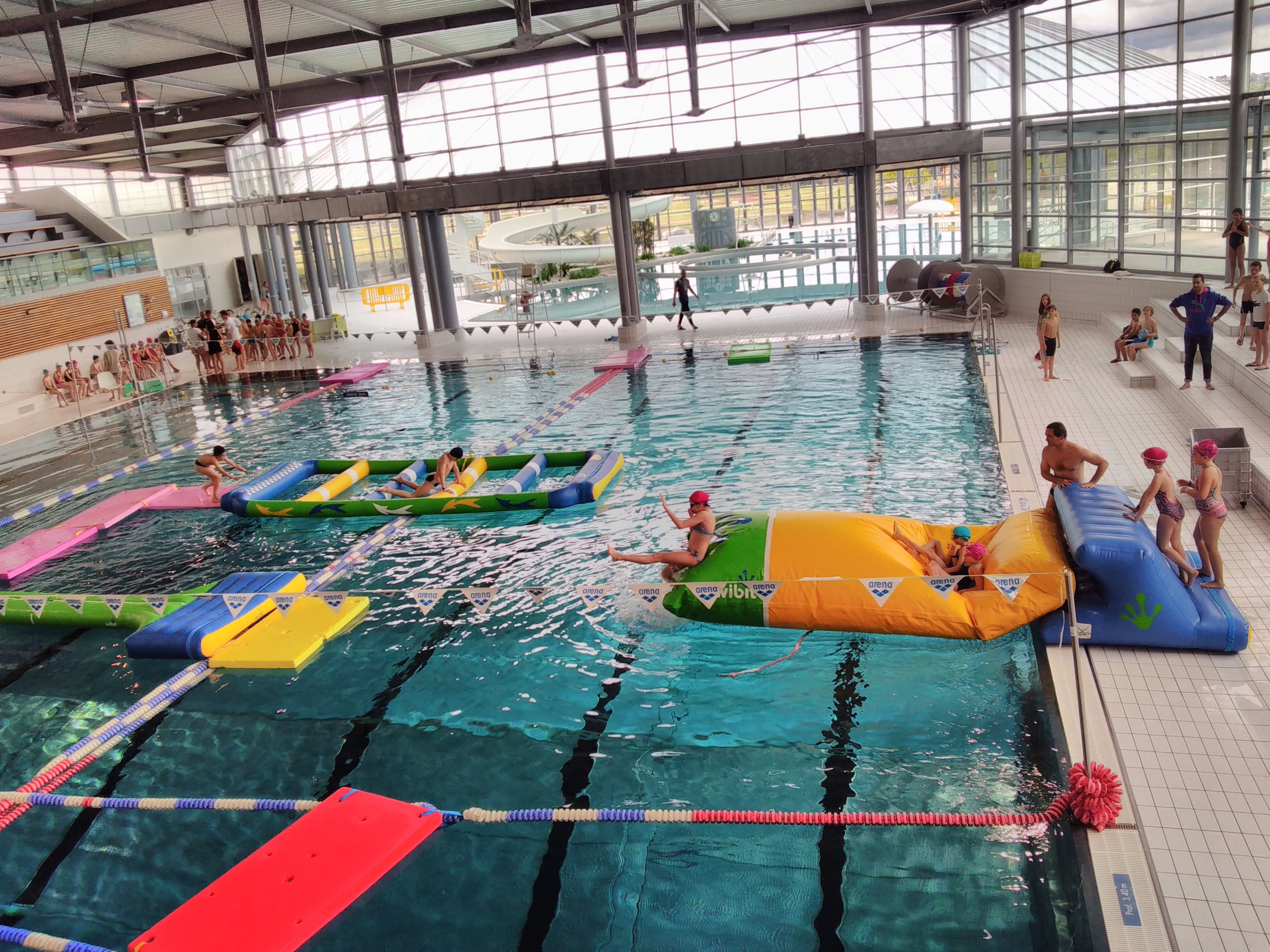 Animations au stade aquatique de vichy val d allier for Animation piscine