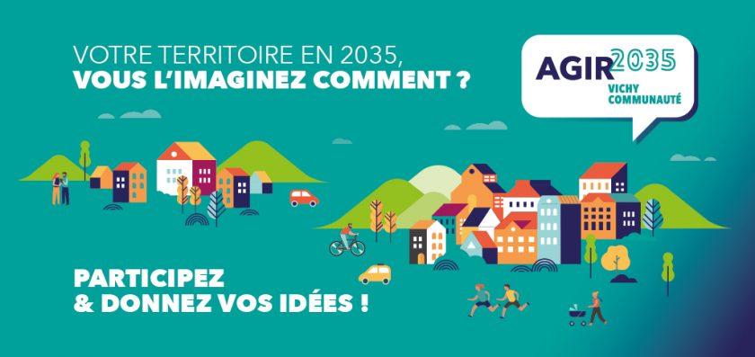 illustrationn du projet d'agglomération Agir 2035 Vichy Communauté